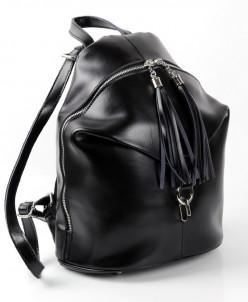 Женский кожаный рюкзак 814 Блек