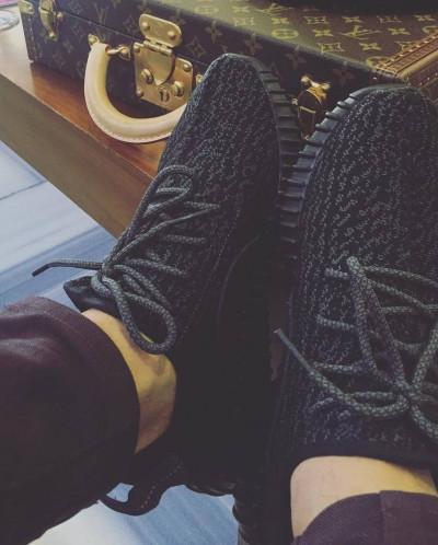 Кроссовки МУЖСКИЕ  ГРАФИТ  -  Adidas Yeezy Boost 350