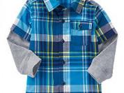 Рубашка с трикотажными рукавами Crazy8