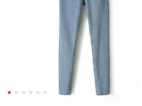 Новые джинсы скини высокая талия 26 размер