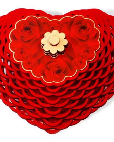 Конфетница - сердце, Чернослив  шоколадный, 400г