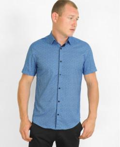 Рубашка Amato синяя молодежная модель
