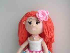 Кукла Девочка Лето игрушка вязаная