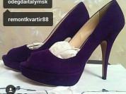 Туфли новые Prada Италия размер 39 замша фиолетовые сиреневые на платформе 2 см обувь кожа бренд женская