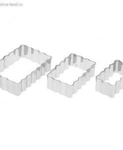 """Набор форм для вырезания печенья """"Полосы рифленые"""" 3 шт"""