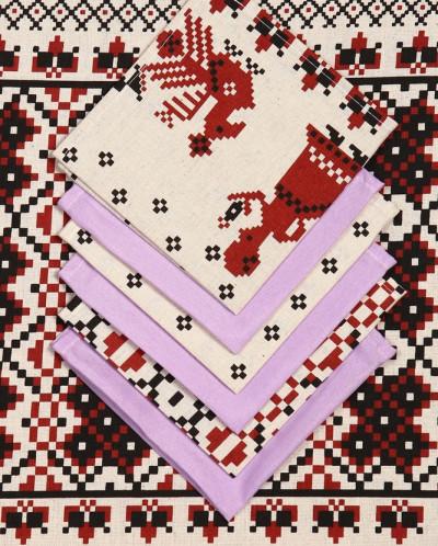 Скатерть Столовая+12 салфеток 1,5-2,2 м