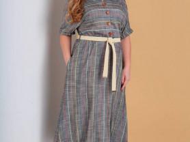 Платье Moda Versal 2189 серое 48 р.
