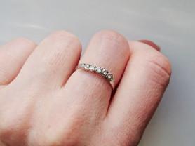 Кольцо, белое золото