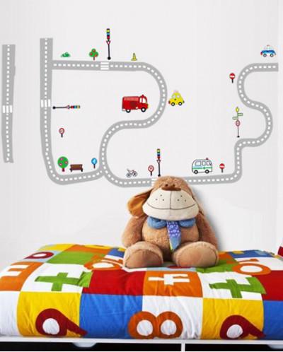 Наклейка многоразовая «Автодорога»