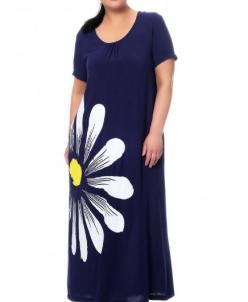 Синее летнее платье 407540