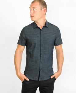 Черная молодежная стильная рубашка Amato модель 19KG17621