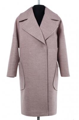 01-7299 Пальто женское демисезонное Валяная шерсть Чайная ро