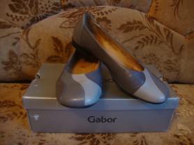 Женские, кожаные туфли-балетки Gabor 39р.
