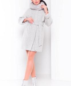 Пальто Нора 3365 (светло-серый) Modus