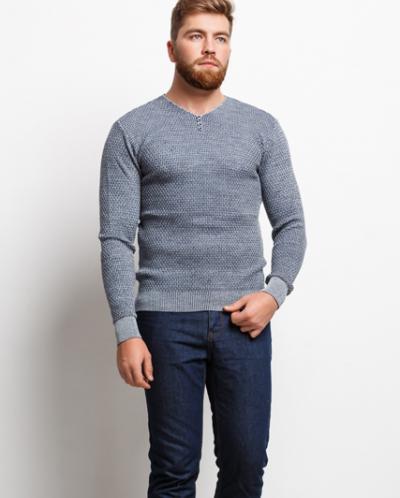 Мужской пуловер 16575 серый
