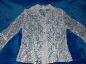 Блузка белая на пуговицах, 122 см