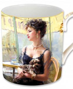 Кружка Дама с собачкой, в подарочной упаковке