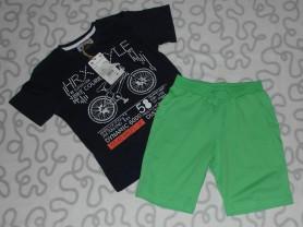 Новый комплект SilverSun, футболка и шорты, 116 см