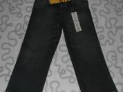 Новые джинсы с ремнем Marks&Spencer, 104-110 см