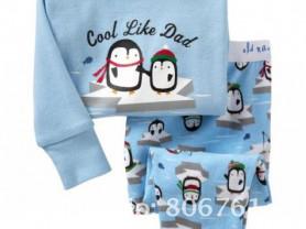 """Комплект - Пижама """"Пингвины"""" р.116/122"""