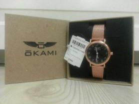 Женские часы OKAMI на золотом миланском браслете