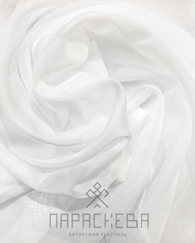 Лайма штора вуаль белая арт.16001
