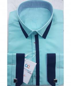 Рубашка для мальчика, Dast Cardin, арт.1102, бирюза