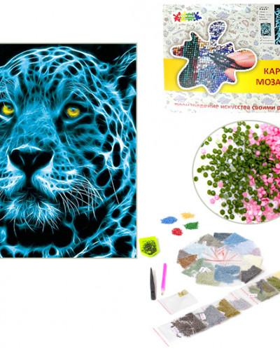 """Алмазная мозаика """"Неоновый ягуар"""""""