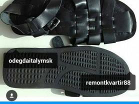 Сандалии новые мужские размер 45 44 кожа чёрные босоножки сандали сланцы летняя обувь
