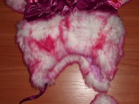Зимняя шапка девочке флис мех ог 50 см