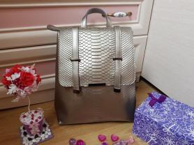 Новый кожаный рюкзак Ula шампань