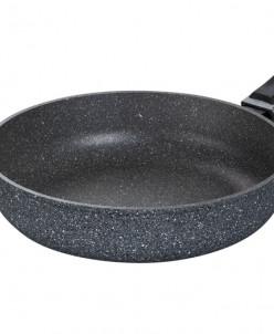 """Сковорода глубокая 26 см 47*27*9,5 см """"Мрамор"""" съемная ручка"""