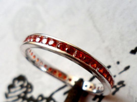 Кольцо с цитрин Мадейра, серебро 925 размер 17