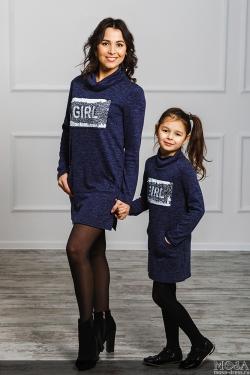"""Комплект туник для мамы и дочки """"BOY\GIRL"""""""