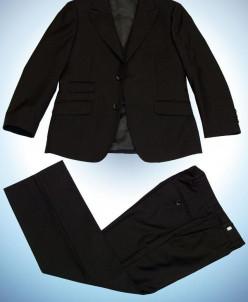122 - 152 3в1 д/м пиджак , брюки , жилет  ЧЕРНЫЙ