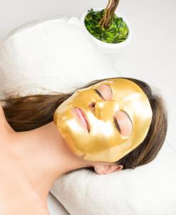 Золотая антивозрастная маска для лица