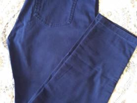 Mango женские зауженные брюки синего цвета р48-50