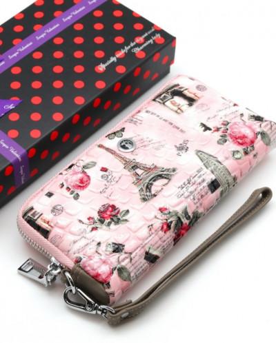 Женский кожаный кошелек на молнии Sergio Valentini СВ 8070-0