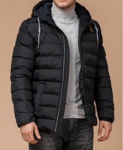 Модная зимняя куртка цвет графит-коричневый модель 35228