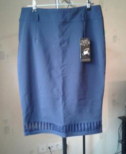 юбка темно синяя