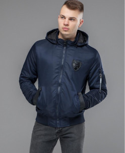 "Куртка бомбер Braggart ""Youth"" универсальная темно-синяя мод"