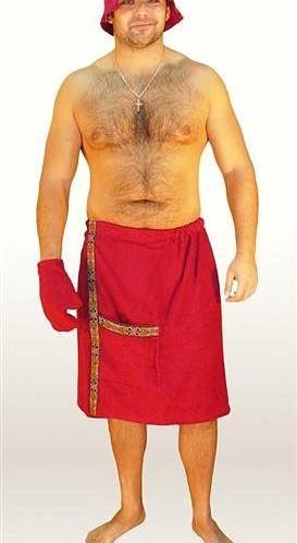 Комплект мужской махровый для бани и сауны, 100% хлопок