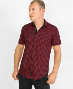 Красная яркая молодежная рубашка Black Stone модель 2769