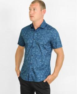 Рубашка Amato удобная молодежная синяя модель 19KG17695