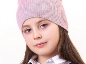 Новая двойная шапочка с ушками на ог 48-50.