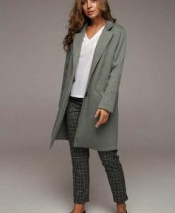 Облегченное пальто VALENTINA (оливковый) Lavana Fashion