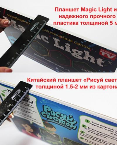 Волшебный планшет РИСУЕМ СВЕТОМ (30х42 СМ) толщиной 2мм