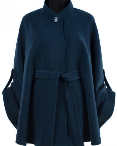 01-7309 Пальто женские демисезонное(пояс) Кашемир Морская во
