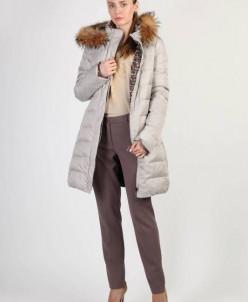 Пальто женское Артикул: LA-D01183 пух/енот