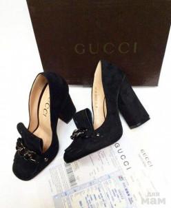 Туфли гуччи   черные
